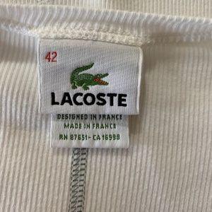 Lacoste Tops - Lacoste white button down henley - 42 EU/ US Large